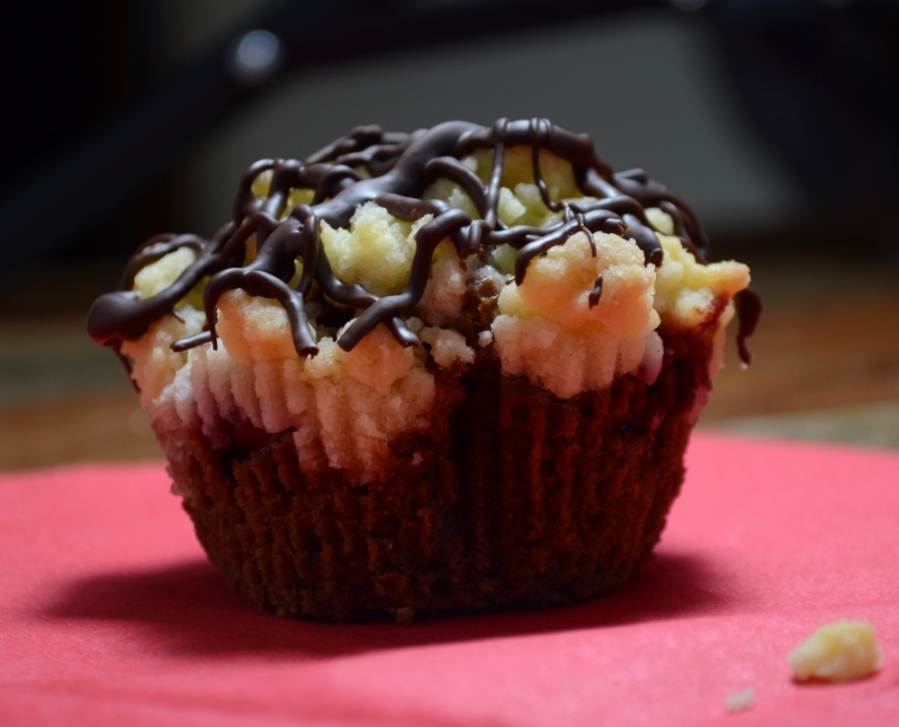 Streusel-Kirsch-Muffin
